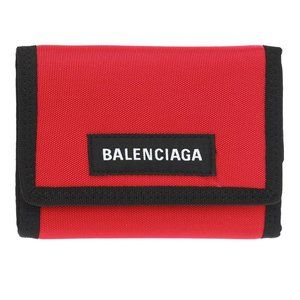 New Balenciaga Explorer Red Polyamide Wallet Card